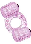 Hero Double Pleaser Teaser Cock Ring Waterproof Purple