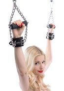 Suspension Cuffs Faux Fur And Leather And Metal Black And...