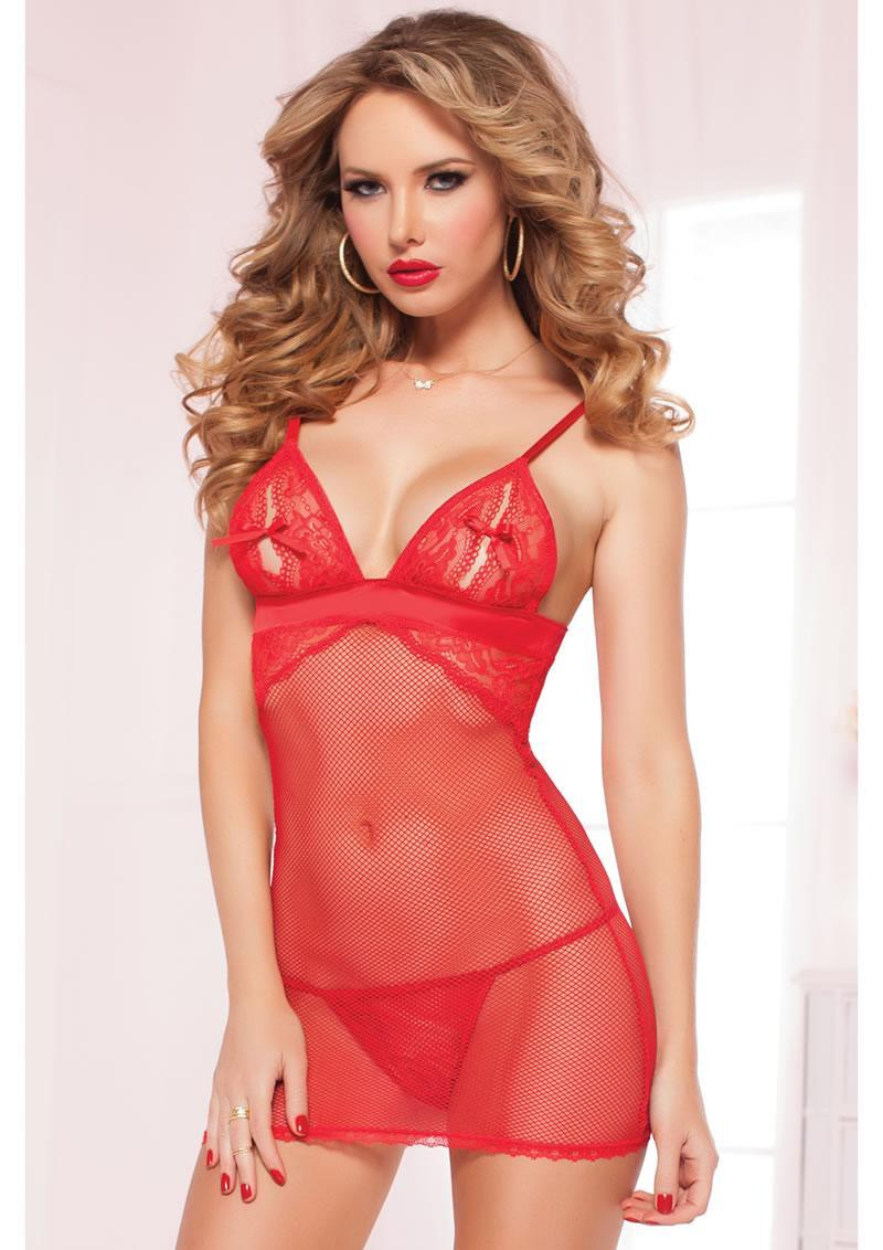 Net Results Chemise - Red - Os