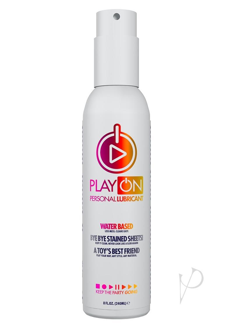 Play On Water Based Personal Lubricant 8 Ounce Pump